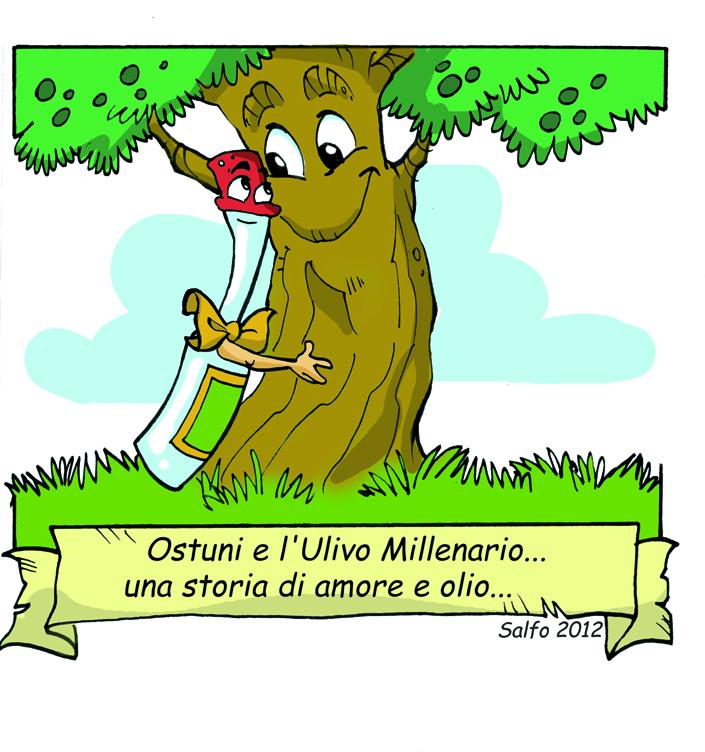 Fumetto olio millenario di Ostuni della disegnatrice Federica Salfo
