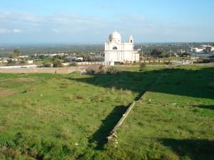 Gli Orti a valle del centro storico e la Chiesa Madonna della Grata