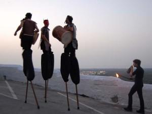 Trampolieri durante Notte di San Giovanni