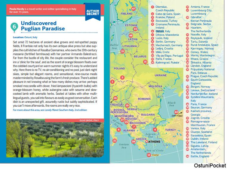 Ostuni on Lonely Planet Secret Europe