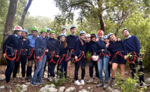 Ragazzi nel Parco Avventura di Ostuni Ph: Foto web