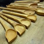 Cucchiai per cucina in legno di ulivo